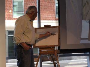 Greater Haverhill Arts Association Figure Drawing Demo @ HC Media's Studio 101
