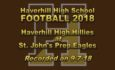 HHS Football vs St. John's – September 7, 2018