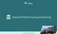 Haverhill Planning Board Meeting – January 9, 2019