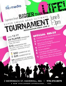 Super Smash Brothers Ultimate Tournament for Teens