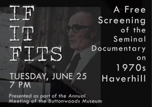 "Buttonwoods Annual Meeting and ""If It Fits"" Screening"