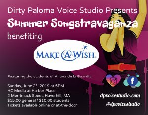 A Summer Songstravaganza, presented by Dirty Paloma Voice Studio